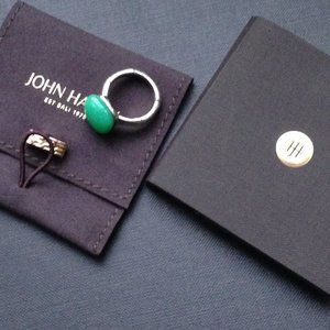John Hardy Bamboo Orb Ring with Chrysoprase